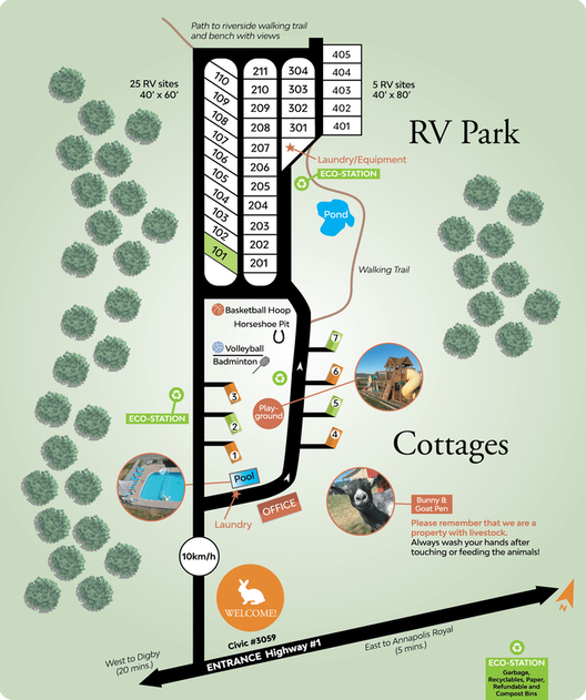 RV Park map with the whole property